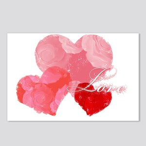 Hearts, roses and love Postcards (Package of 8)