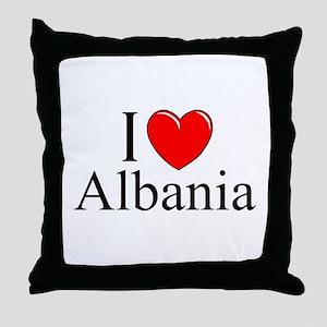 """I Love Albania"" Throw Pillow"