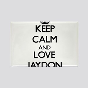 Keep Calm and Love Jaydon Magnets