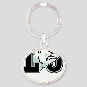Lost U(blk) Oval Keychain
