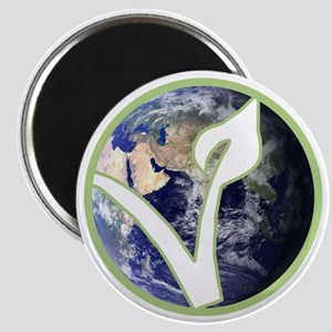 World is Vegan Logo Magnet