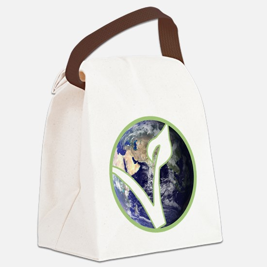 World is Vegan Logo Canvas Lunch Bag