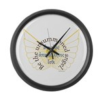 The Unsummoned Angel Large Wall Clock