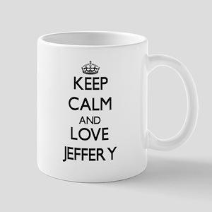Keep Calm and Love Jeffery Mugs