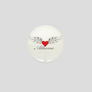 Angel Wings Athena Mini Button