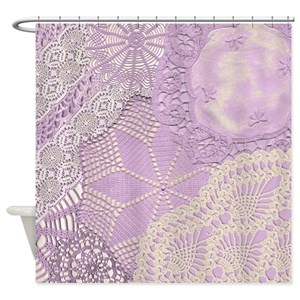 Crocheted Doily Shower Curtains Cafepress
