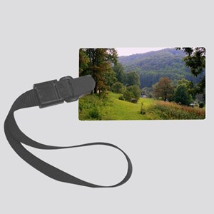 Mountainvalleyslargeposter2 Large Luggage Tag
