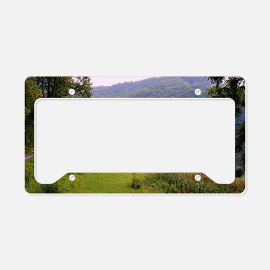Mountainvalleyslargeposter2 License Plate Holder