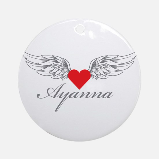 Angel Wings Ayanna Ornament (Round)