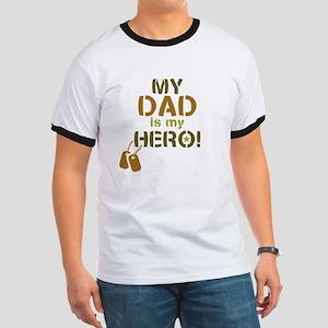 Dog Tag Hero Dad Ringer T