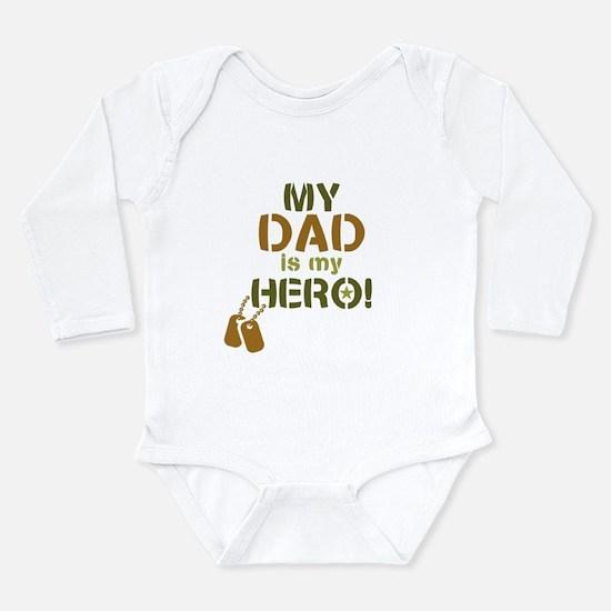 Dog Tag Hero Dad Long Sleeve Infant Bodysuit