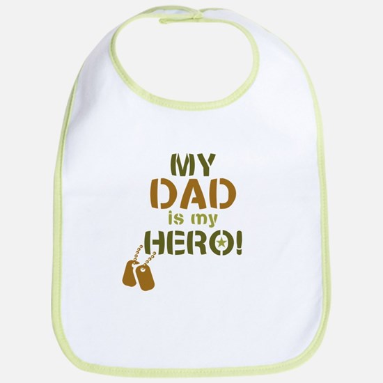 Dog Tag Hero Dad Bib