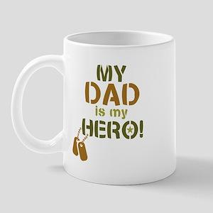 Dog Tag Hero Dad Mug