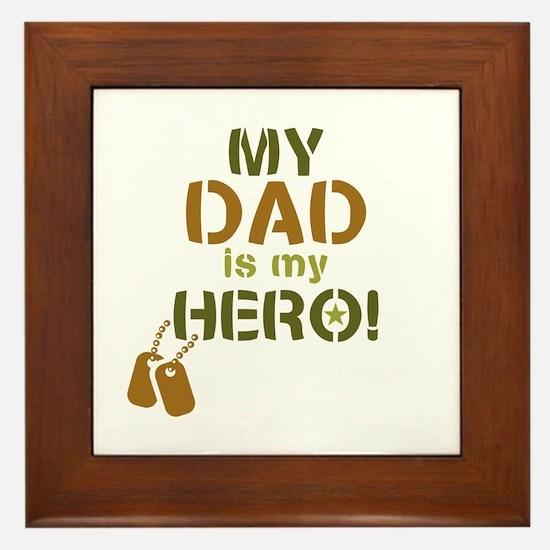 Dog Tag Hero Dad Framed Tile