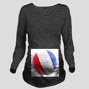 France World Cup Ball Long Sleeve Maternity T-Shir