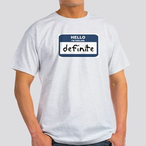 Feeling definite Ash Grey T-Shirt