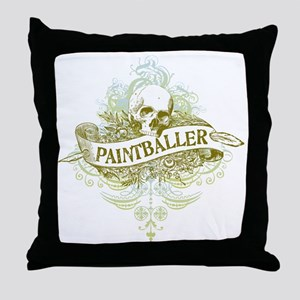 urban paintballer Throw Pillow
