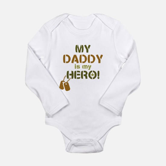 Dog Tag Hero Daddy Long Sleeve Infant Bodysuit