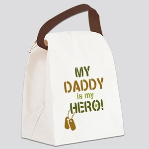 Dog Tag Hero Daddy Canvas Lunch Bag