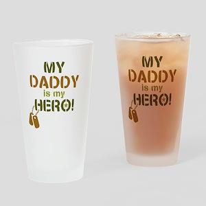 Dog Tag Hero Daddy Drinking Glass