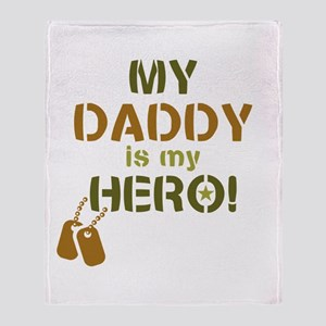 Dog Tag Hero Daddy Throw Blanket