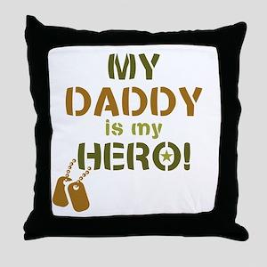 Dog Tag Hero Daddy Throw Pillow