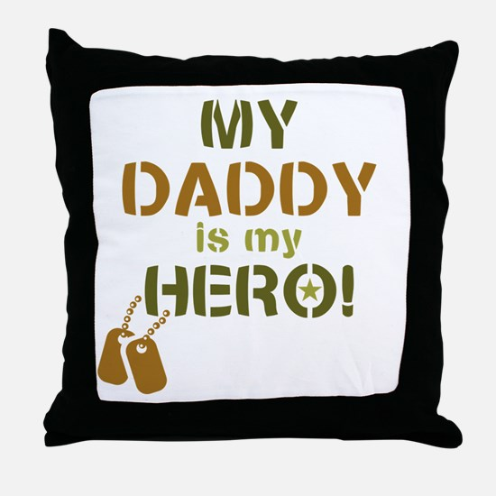 Dog Tag Hero Daddy Throw Pillow