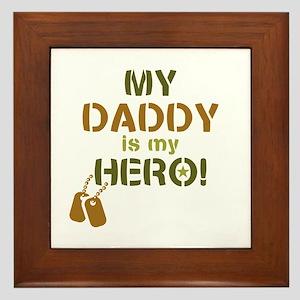 Dog Tag Hero Daddy Framed Tile