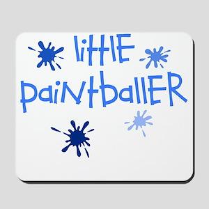 little paintballer boy Mousepad