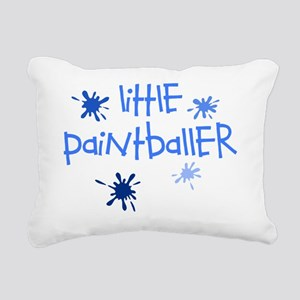 little paintballer boy Rectangular Canvas Pillow