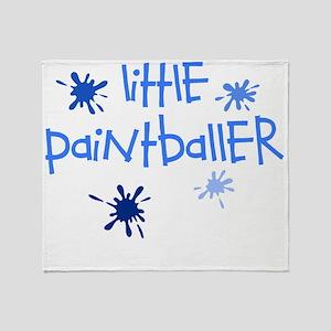 little paintballer boy Throw Blanket