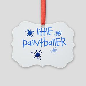 little paintballer boy Picture Ornament