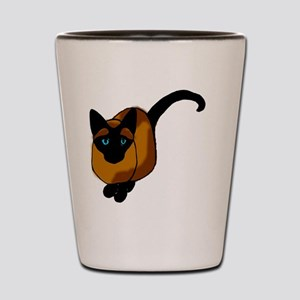 Siamese Cat2 Shot Glass