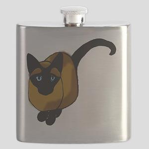 Siamese Cat2 Flask