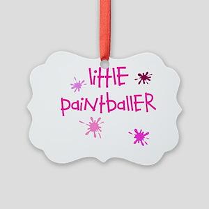 little paintballer girl Picture Ornament