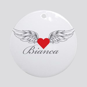 Angel Wings Bianca Ornament (Round)