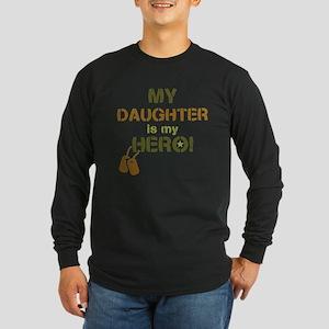 Dog Tag Hero Daughter Long Sleeve Dark T-Shirt