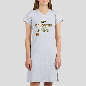 Dog Tag Hero Daughter Women's Nightshirt