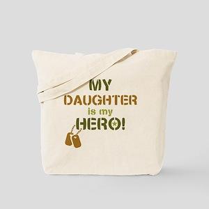 Dog Tag Hero Daughter Tote Bag