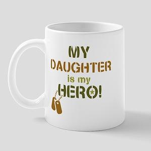 Dog Tag Hero Daughter Mug