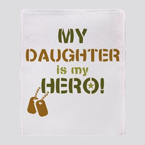 Dog Tag Hero Daughter Throw Blanket