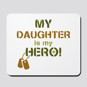 Dog Tag Hero Daughter Mousepad