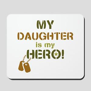 Dog Tag Hero Daughter Mousepad