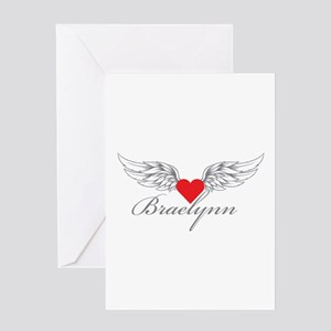 Angel Wings Braelynn Greeting Cards