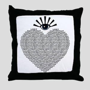 eyeLOST Throw Pillow