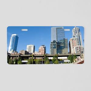 CitySkyline051709 Aluminum License Plate