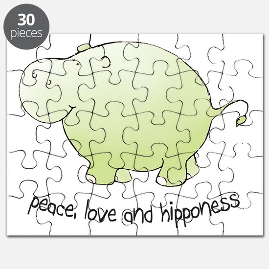 2-green_peace_love_hipponess Puzzle