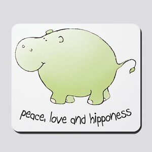 2-green_peace_love_hipponess Mousepad