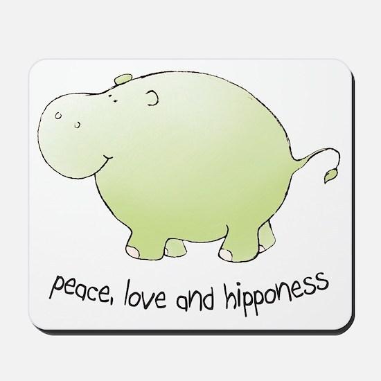 2-green_peace_love_hipponess Mousepad