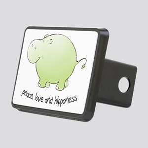 2-green_peace_love_hippone Rectangular Hitch Cover